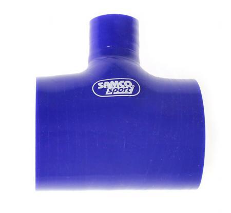 Samco T-Schlauchkupplung 76mm  Durchm. Abzweig 25mm blau
