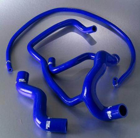 Samco Ford Escort MK4 R3i Mfi 84-90  3-teiliges Kühlwasser-Schlauchkit blau