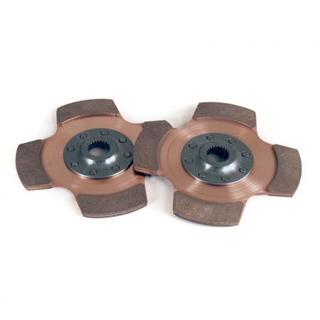 Tilton 4 Pad Cerametal Mitnehmehmerscheiben  184mm Verzahnung 13/16x24 (20,6x24Z)