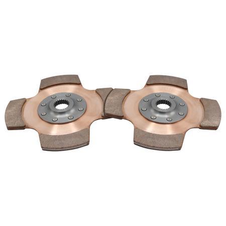 """Tilton 4-pad Cerametal Mitnehmehmerscheiben 184mm Verzahnung 1-5/32"""" x 26"""