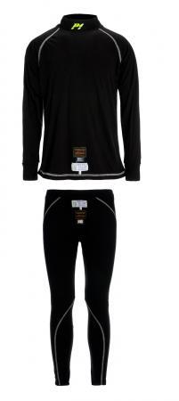 P1® Unterwäsche Komplett schwarz  Komplettset (Hose + Pullover) FIA 8856-2000