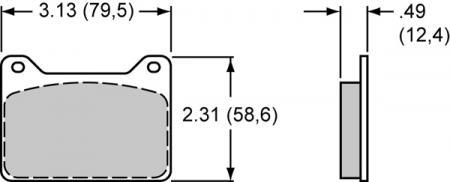 Wilwood Bremsklötze (4 Stück) Smart Pad BP10  PAD6208-10 Powerlite (7912)