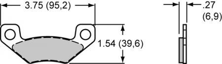 Pad Set BP-10 6407 SC1  PAD,6407-10,SC1/2,.120 THK,AXLE SET