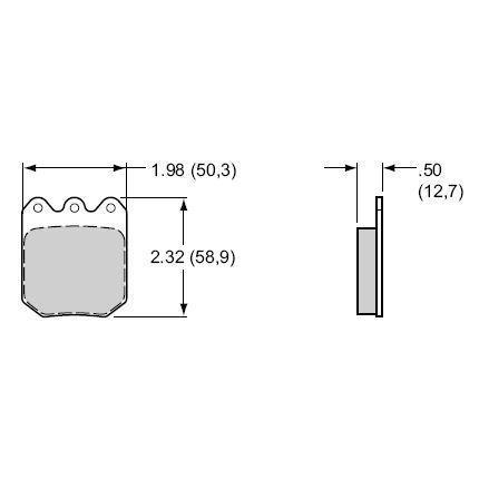 Wilwood Bremsklötze (4 Stück) Smart Pad BP10  für Dynapro 2piston (6812)