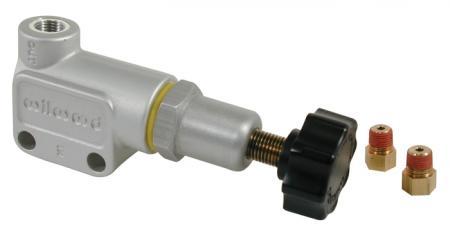 Wilwood Bremskraftregler Drehverstellung Anschlüsse 1/8x27 NPT mit Adapter 3/8x24